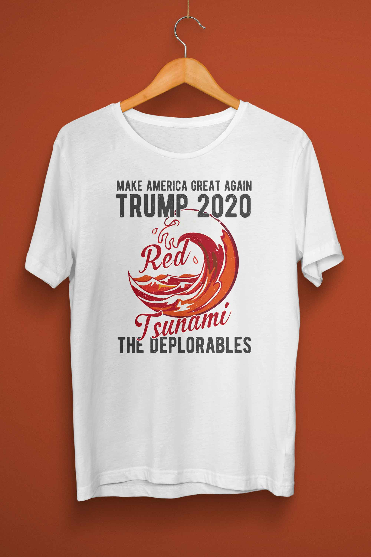28f3b70e4 Trump 2020, Red Tsunami, T-shirt - American Made